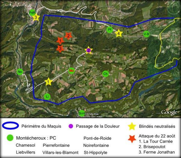 Maquis du Lomont : situation générale